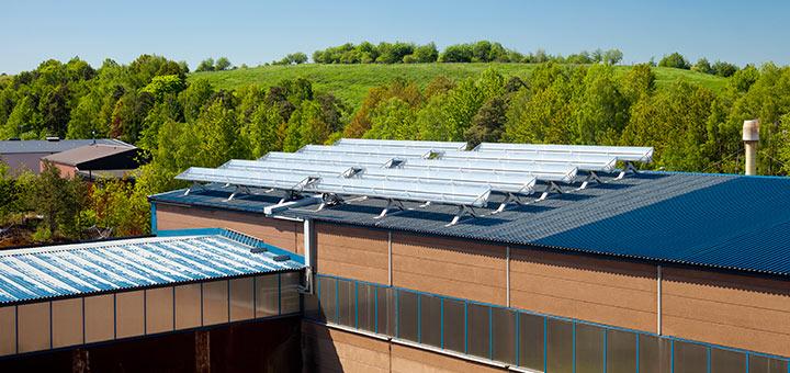 Koncentrerad solenergi i industriella processer