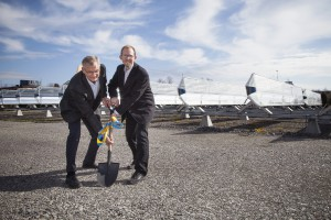 Första spadtaget i Energiparken, Joakim Byström och Ingemar Forzelius