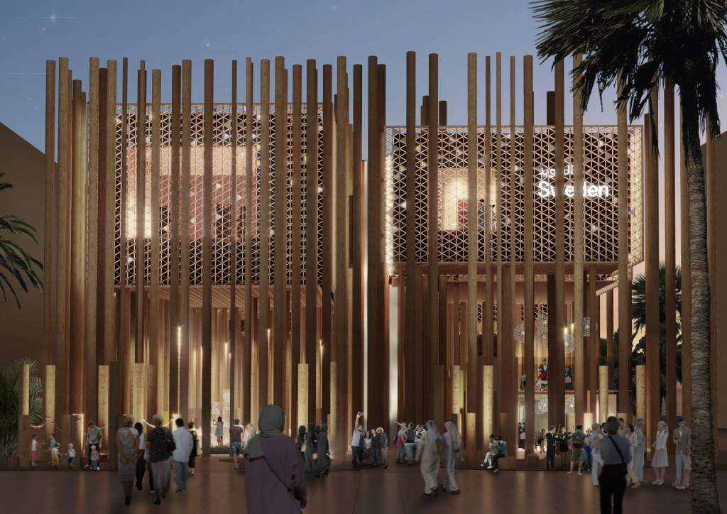 The Swedish pavilion at World Expo 2020 The Forest