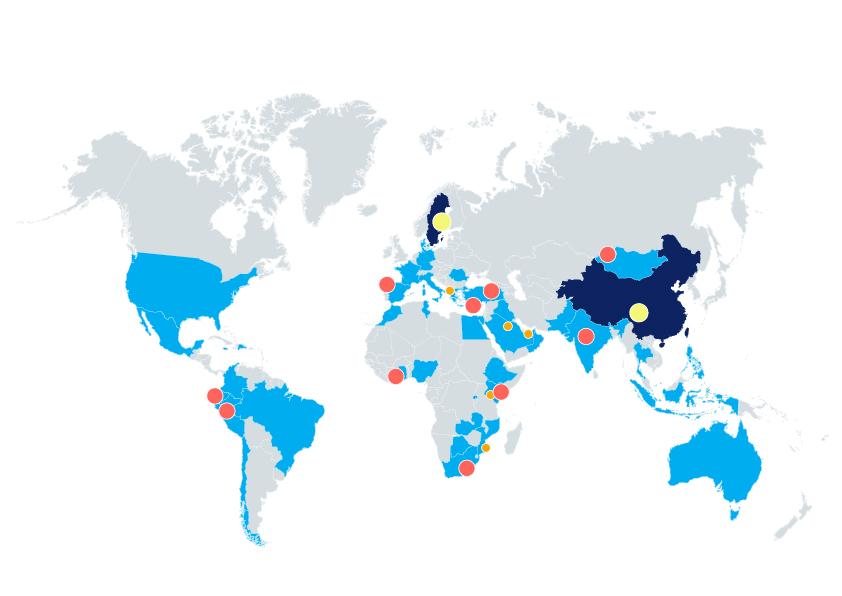 fabricantes de todo el mundo
